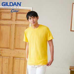 Gildan 76000 5.3oz Premium Cotton 成人環紡圓筒 T 恤