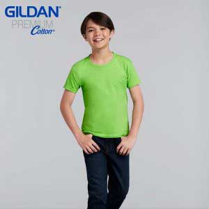 Gildan 76000B 5.3oz Premium Cotton 童裝環紡 T 恤