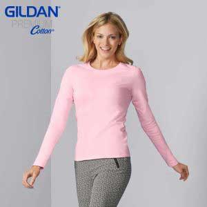 Gildan 76400L 5.3oz 女裝長袖 T 恤