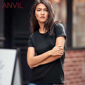 ANVIL 880L 4.5oz 女裝輕身環紡 T 恤