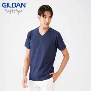 Gildan 63V00 4.5oz SoftStyle 成人環紡 V 領 T 恤